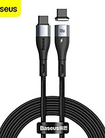 cheap -Baseus 100W USB C to USB Type C Cable for Xiaomi Redmi Samsung Huawei Oneplus Quick Charge 4.0 PD Fast Charging for MacBook Pro Charge 5 A 1.5m(5Ft) Nylon Cable