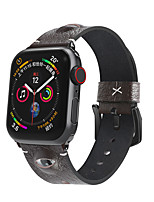 cheap -Smart Watch Band for Apple iWatch 1 pcs Business Band Genuine Leather Replacement  Wrist Strap for Apple Watch Series SE / 6/5/4/3/2/1