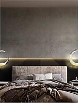 cheap -LED Pendant Light Moon Design Bedside Light Kitchen Island Light 1-Light 3-Light Meniscus Design Aluminum Dining Room Bedroom Bar Cafe Chandelier 110-240 V