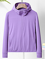 cheap -Women's Men's UPF 50+ Clothing UV Sun Protection Lightweight Jacket Zip Up Hoodie Jacket Windbreaker Cooling Sun Shirt with Pockets Quick Dry Packable Coat Top Hiking Fishing Outdoor Performance