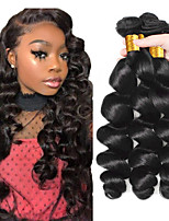 cheap -Hot selling natural color loose hair bundle 100% pure Brazilian virgin fake hair curtain 3 pieces of combination