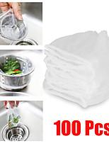 cheap -100pcs Sink Filter Mesh Kitchen Trash Bag Prevent The Sink From Clogging Filter Bag For Bathroom Strainer Rubbish Bag