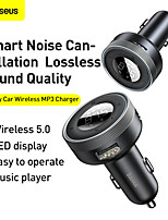 cheap -BASEUS CCLH-01 Bluetooth 5 FM Transmitter Multi-Output / Radio / Car MP3 FM Modulator Car