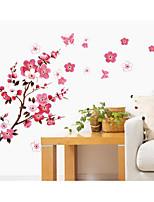 cheap -new peach blossom flying pvc tv background wall living room bedroom window sticker sticker fashion wall sticker 60*90CM