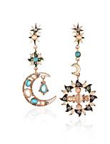 cheap -earrings fashion simple sun moon inverted triangle earrings