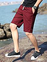 "cheap -Men's Hiking Shorts Hiking Cargo Shorts Summer Outdoor 10"" Ripstop Quick Dry Front Zipper Multi Pockets Cotton Knee Length Shorts Bottoms Khaki Burgundy Sky Blue Dark Navy Orange Hunting Fishing"