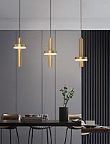 cheap -LED Pendant Light Gold Kitchen Island Light 1 Head 3 Heads Wood Brass LED Nordic Style 220-240V 110-120V