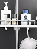 cheap -Practical Bathroom Pole Shower Storage Rack Holder Organizer Bathroom Shelves Shower Shampoo Tray Single Tier Shower Head Holder