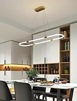cheap -LED Pendant Light Circle Kitchen Island Light Modern 90 cm Lantern Desgin Copper Brass 220-240V 110-120V