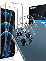 """cheap -[4pack] 2 pack screen protector tempered glass compatible with iphone 12 pro 5g (6.1"""")+2 pack camera lens protector tempered glass for iphone 12 pro, hd clear anti-scratch bubble free case friendly"""