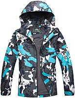 cheap -Men's Hiking Windbreaker Hiking Jacket Hoodie Jacket Outdoor Quick Dry Lightweight Breathable Sweat wicking Outerwear Coat Top Hunting Fishing Climbing Blue men Orange red men