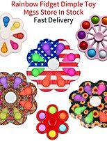 cheap -2 pcs Anti Stress Fidget Toys Finger Figet Spiner Simple Dimple Spinner 12  Pop It Fidget Spinner Simple Dimple Novelty