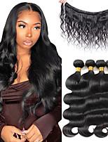 cheap -Body Wave Bundles Human Hair Weave Bundles Brazilian Weave Extensions 4 PCS Remy Hair Body Wave Extensions 8-28 Inch