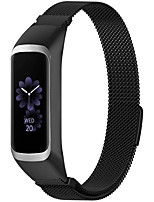 cheap -smartwatch band  for samsung galaxy fit 2 sm-r220, quick release stainless steel metal band smartwatch band waterproof business replacement band accessories - black