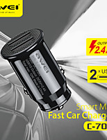 cheap -AWEI 12 W Output Power USB Car USB Charger Socket Portable Charger For iPad Cellphone