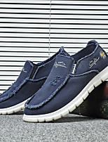 cheap -Men's Loafers & Slip-Ons Comfort Loafers Espadrilles Casual Daily Microfiber Breathable Non-slipping Wear Proof Blue Gray Khaki Spring