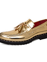 cheap -Men's Loafers & Slip-Ons Business Casual Classic Wedding Party & Evening Synthetics Gold Black Fall Winter