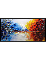 cheap -Oil Painting Handmade Hand Painted Wall Art Modern Colorful Landscape Abstract Home Decoration Decor Rolled Canvas No Frame Unstretched