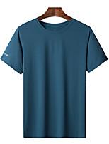 cheap -Men's T shirt Hiking Tee shirt Short Sleeve Tee Tshirt Top Outdoor Quick Dry Lightweight Breathable Sweat wicking Autumn / Fall Spring Summer White Blue Black Fishing Climbing Camping / Hiking
