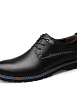 cheap -Men's Oxfords Business Classic British Daily Nappa Leather Breathable Black Brown Spring Summer