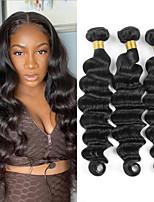 cheap -Hot selling natural color loose deep hair bundle 100% pure Brazilian virgin fake hair curtain 3 pieces of combination