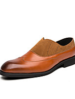 cheap -Men's Unisex Loafers & Slip-Ons Business Casual Vintage Daily Party & Evening Patent Leather Synthetics Gray Black Brown Color Block Fall Winter