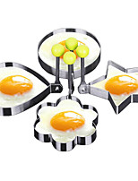 cheap -4-Piece Set Fried Egg Mold Egg Cooking Tools Stainless Steel DIY Tools Kitchen