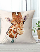 cheap -Giraffe Animal Double Side Cushion Cover 1PC Soft Throw Pillow Cover Cushion Case Pillowcase for Sofa Bedroom Livingroom Superior Quality Machine Washable  Outdoor Cushion for Sofa Couch Bed Chair