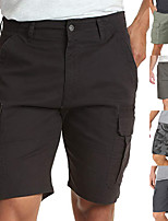 """cheap -Men's Hiking Shorts Hiking Cargo Shorts Military Solid Color Summer Outdoor 10"""" Regular Fit Ripstop Quick Dry Multi Pockets Breathable Cotton Knee Length Shorts Bottoms Camouflage Grey Green Black"""