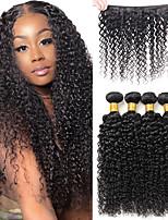 cheap -Brazilian Kinky Curly Hair 3 Bundles Deep Curly Hair Weaves Natural Remy Human Hair Extensions