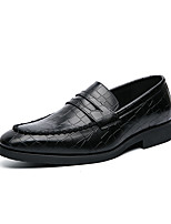 cheap -Men's Loafers & Slip-Ons Dress Loafers Penny Loafers Casual Classic Daily Office & Career PU Non-slipping Wear Proof Red Black Fall Spring
