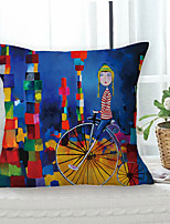 cheap -Painting Style Double Side Cushion Cover 1PC Soft Decorative Square Throw Pillow Cover Cushion Case Pillowcase for Sofa Bedroom Livingroom Outdoor Superior Quality Machine Washable Outdoor Cushion for Sofa Couch Bed Chair