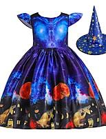 cheap -Pumpkin Dress Cosplay Costume Kid's Girls' Cute Halloween Festival Christmas Halloween Festival / Holiday Terylene Elastane Blue Easy Carnival Costumes Pumpkin / Hat