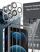 cheap -6 pack lk 3pcs screen protector & 3pcs camera lens protector compatible with iphone 12 pro max 6.7-inch, tempered glass, easy frame installation, hd ultra-thin