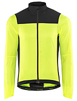 cheap -Men's Cycling Jacket Winter Bike Top Warm Quick Dry Moisture Wicking Sports Patchwork Green / Black Clothing Apparel Bike Wear / Long Sleeve / Micro-elastic / Athleisure