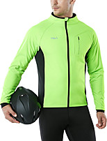 cheap -Men's Cycling Jacket Winter Bike Top Warm Quick Dry Sports Patchwork Army Green / Blue / Green Clothing Apparel Bike Wear / Long Sleeve / Micro-elastic / Athleisure
