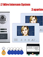 cheap -7 Inch BUS 2 Wire Video Door Phone Intercom systems Kit for home 2 Units Apartment  Night Vision
