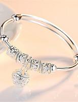 cheap -Women's Bracelet Pendant Bracelet Cut Out Precious Fashion Copper Bracelet Jewelry Silver For Christmas Party Wedding Street Daily / Silver Plated