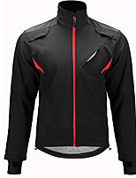 cheap -Men's Cycling Jacket Winter Bike Top Warm Quick Dry Sports Solid Color Black Clothing Apparel Bike Wear / Long Sleeve / Micro-elastic / Athleisure