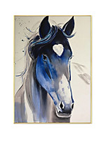 cheap -Oil Painting Handmade Hand Painted Wall Art Animal Horse Abstract Pictures Home Decoration Decor Stretched Frame Ready to Hang