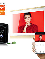 cheap -Tuya Smart Camera 2.0MP 1080P AHD HD TCP/IP 10 Touch Screen Record Video Intercom Doorbell Video door Phone for WIFI APP Android IOS Phone
