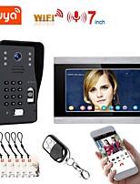 cheap -7 inch Wifi Wireless Video Door Phone Doorbell Intercom System with Wired Fingerprint RFID AHD 1080P Door Access Control System