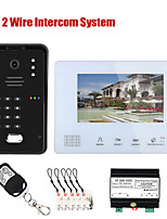cheap -7 Inch Bus 2 Wire Rfid Video Door Phone Intercom Systems For Code Keypad Rfic Camera Home Access Control System