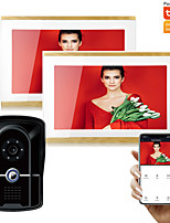 cheap -Tuya Smart Wired WIFI 1080P AHD 10 inch Record Video Door Phone Home Intercom Doorbell System with Motion Detector IR Camera Phone Remote Unlock