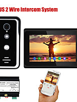 cheap -7 Inch Wired WIFI 1/2 Monitor BUS 2 Wire Video Door Phone Intercom systems with HD1000TVL Camera Night Vision