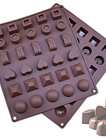 cheap -30 Cavity Silicone Mold Chocolate 3D Shape Non-stick Silicone Cake Mold for Kitchen Silicone Baking Pan for Pastry Jelly Candy Cookie Mold