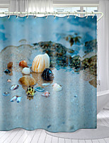 cheap -Conch Theme Series Digital Printing Shower Curtain Shower Curtains  Hooks Modern Polyester New Design