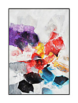 cheap -Oil Painting Handmade Hand Painted Wall Art Simple Colorful Abstract Wall Art Home Decoration Decor Stretched Frame Ready to Hang