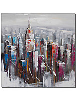 cheap -Oil Painting Handmade Hand Painted Wall Art City Room Decorations Home Decoration Decor Stretched Frame Ready to Hang