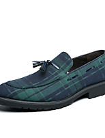 cheap -Men's Loafers & Slip-Ons Formal Shoes Comfort Loafers Dress Loafers Business Classic Wedding Party & Evening PU Non-slipping Wear Proof Blue Fall Spring / Tassel